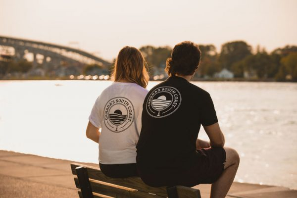 Canada's South Coast Clothing Co. Inc. White & Black Bamboo Classic Tee